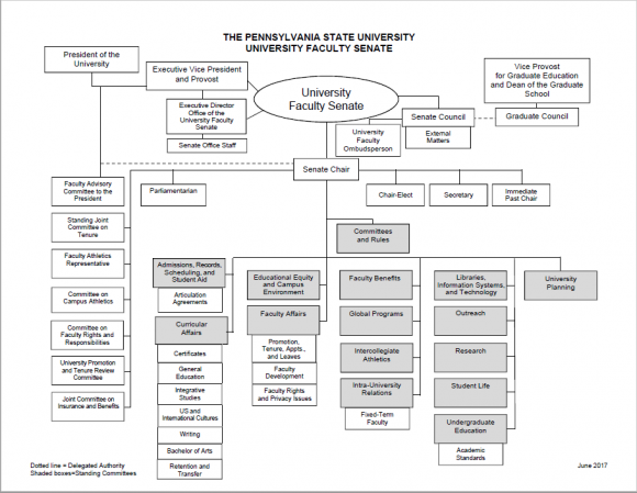 University Faculty Senate Organizational Chart